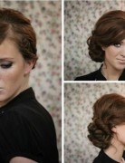 Twisted Side Bun Updo Hairstyles Tutorial