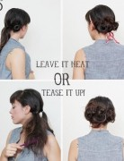 Updo Hairstyles Tutorial: Messy Bun Updos