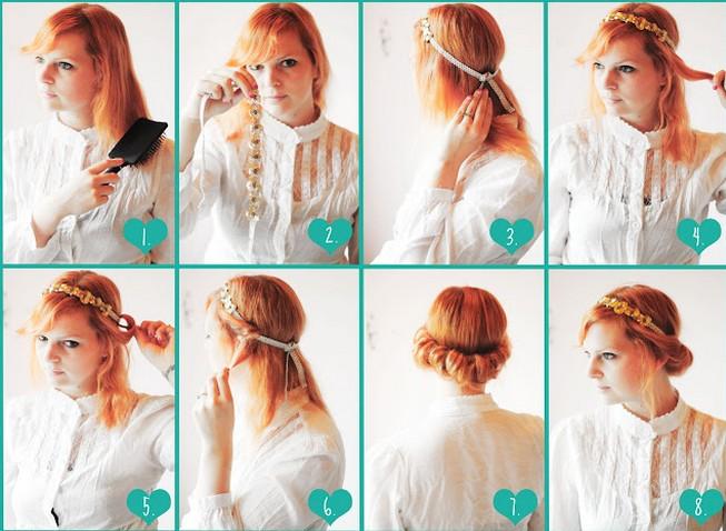 Strange Vintage Updo Hairdo Tutorial Easy Updo Hairstyles For Prom Short Hairstyles Gunalazisus