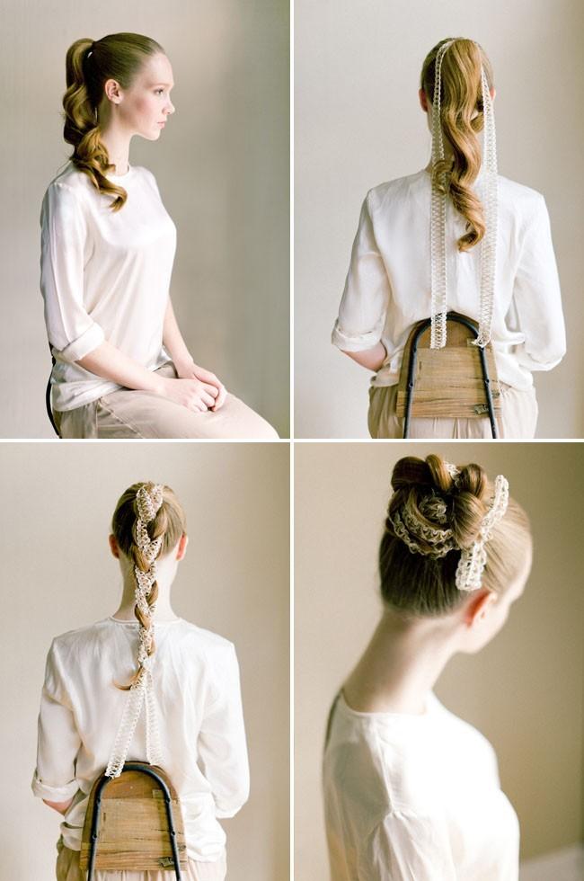 Wedding Braided Updo Hairstyles: Fabric Bun Hair Tutorial