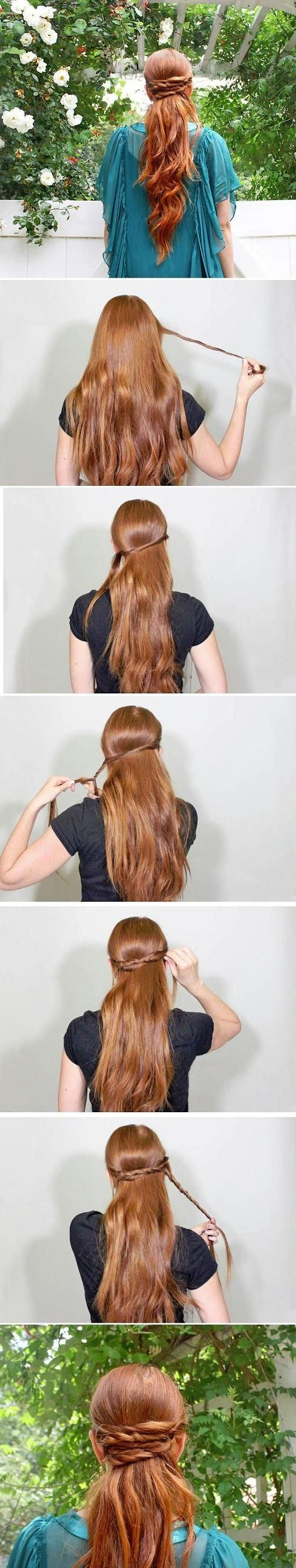 Wrapped Ponytail Hairstyle Tutorial: Trendy Long Hair