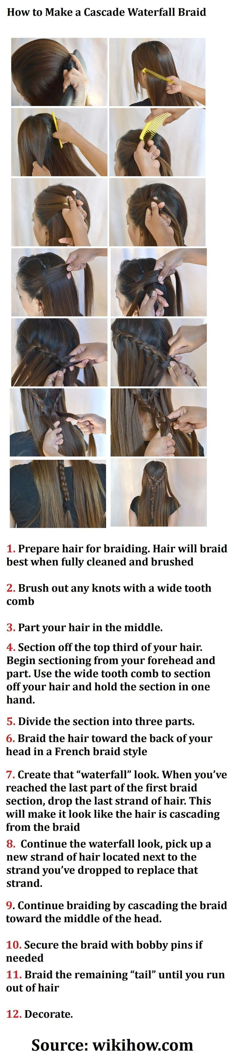 Waterfall Braid Tutorial Step By Step How Do You Do A Waterfall