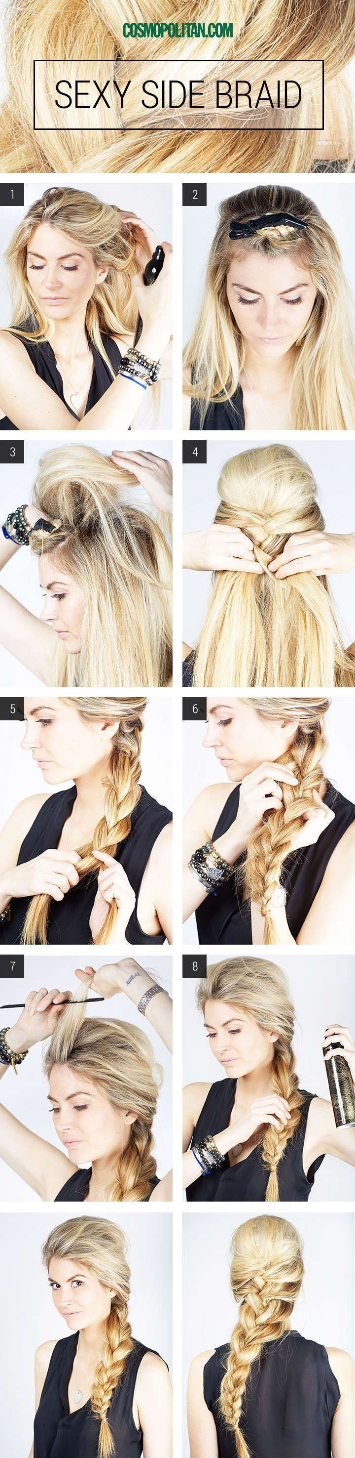 18 Simple Office Hairstyles for Women: Sexy Side Braid