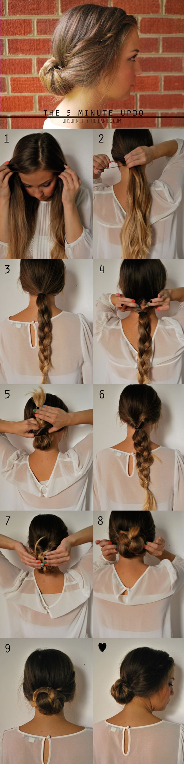5 Minute Updo Hairstyle Tutorial