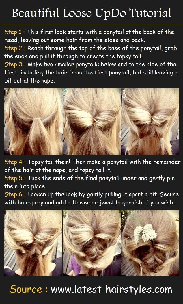 Beautiful Loose Updos Tutorial: Prom Hairstyles