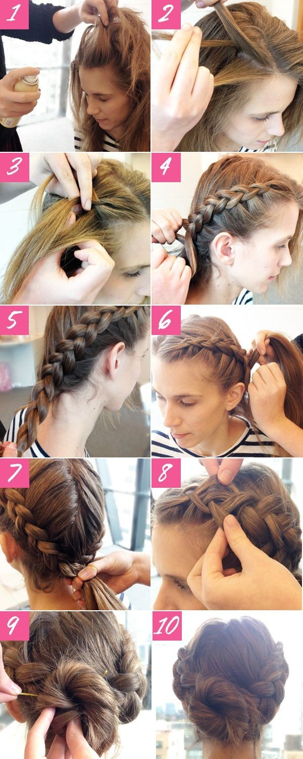 Braid Bun Hairstyle: Prom Hairstyles Tutorials