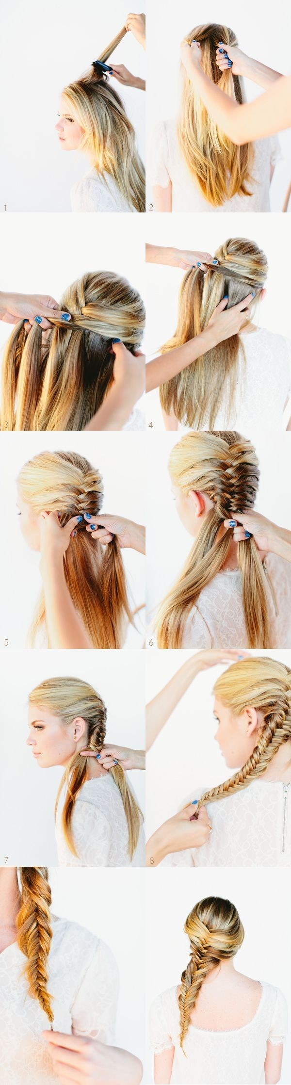 Braided Hairstyles Ideas Messy Side Braids Tutorial