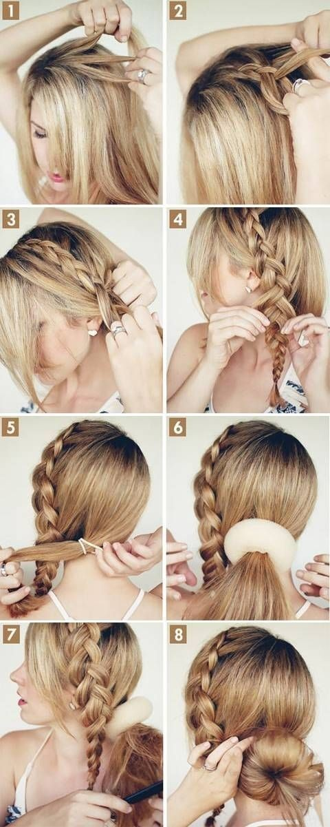 Hairstyles Step By Step step by step best party wear hairstyles tutorial looks ideas with pictures Braids With Bun Updo Tutorial