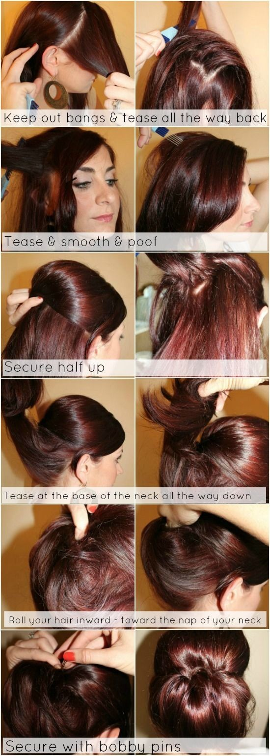 Trendy Low Bun Updo Hairstyles Tutorials: Easy Cute - PoPular Haircuts