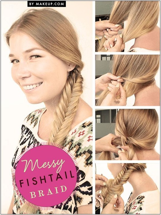 Chic Messy Fishtail Braid Tutorials: Quick Low Key Hairstyles