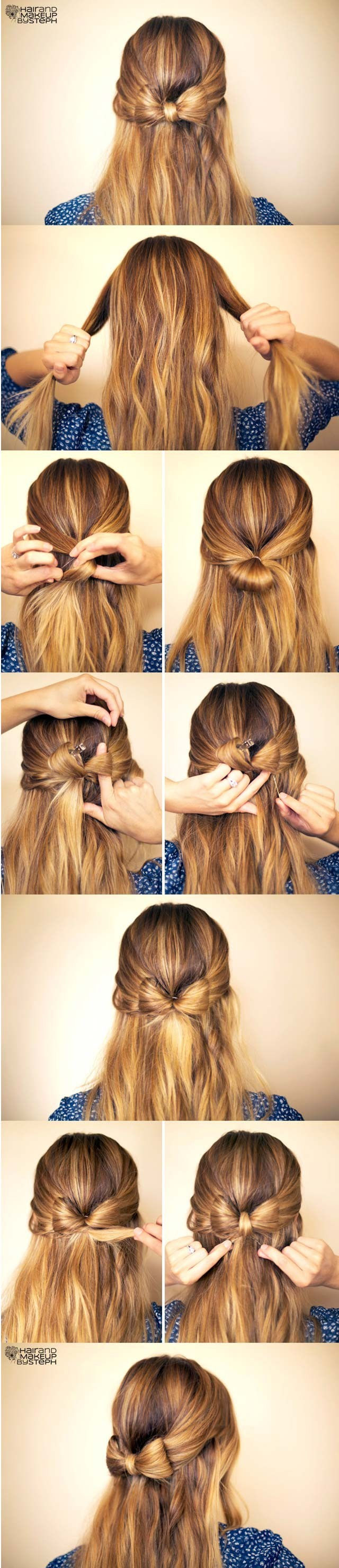 15 cute hairstyles step by step hairstyles for long hair popular cute easy hairstyle hair bow tutorial baditri Image collections