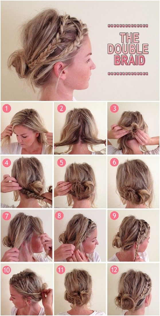 Stupendous Cool Braid Tutorials For Short Hair Braids Short Hairstyles Gunalazisus