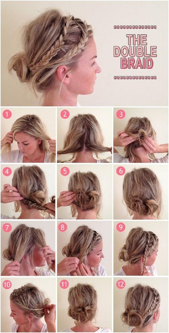 Amazing Cool Braid Tutorials For Short Hair Braids Short Hairstyles Gunalazisus