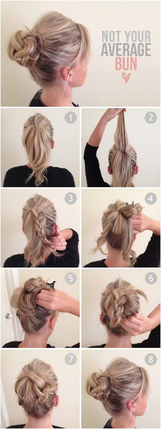 hair bun styles tutorial 10 ways to make everyday hairstyles hair 3490