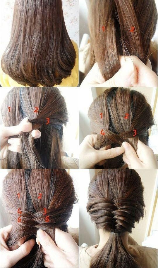 Hairstyles Step By Step easy hairstyle step by step screenshot Cute Hair Styles For Medium Hair Low Ponytail Hairstyles