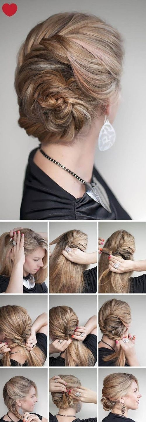 Cute Hairstyle Tutorial: Braids Updos for Women
