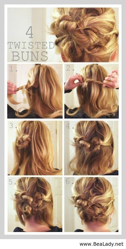 Cute Hairstyle Tutorials and Ideas: Messy Bun Updos