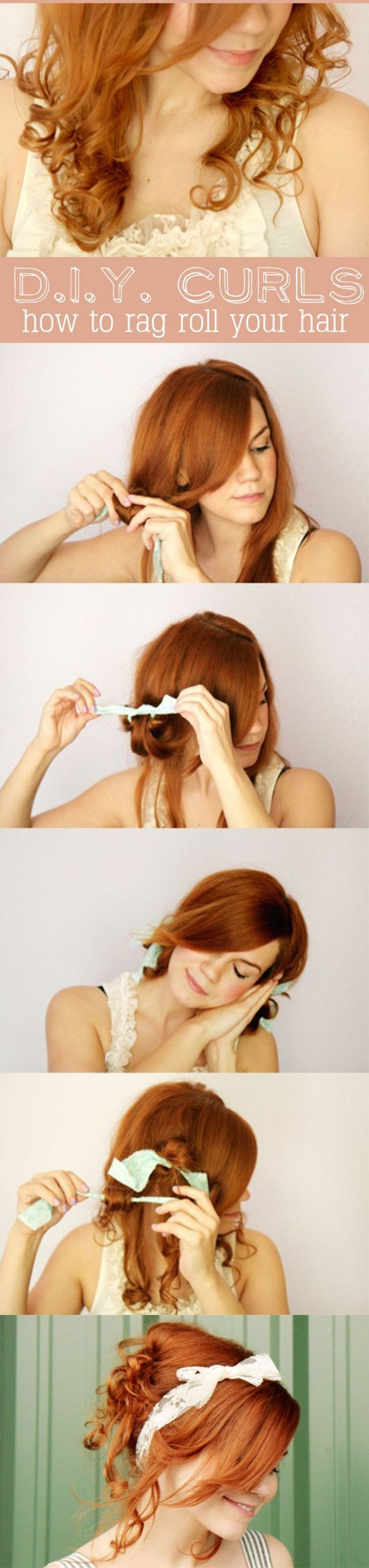 Cute Holiday Hairstyles: How to Rag Roll your Hair