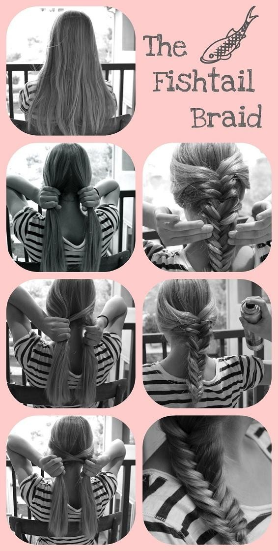 Cute and Easy Fishtail Braid Hairstyles