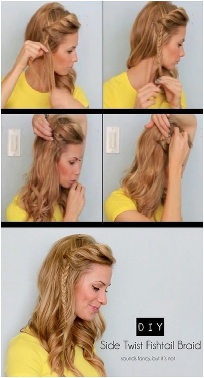 DIY Side Twist Fishtail Braid