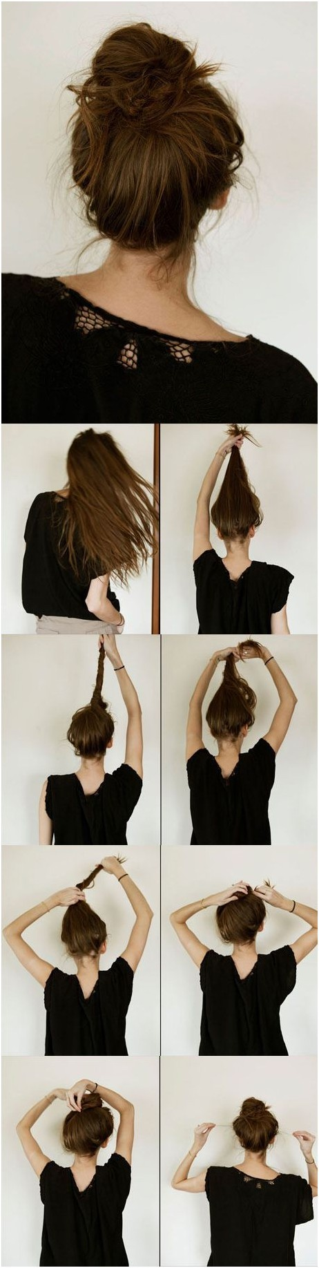 10 ways to make cute everyday hairstyles long hair tutorials everyday hairstyles tutorials casual messy bun hairstyle solutioingenieria
