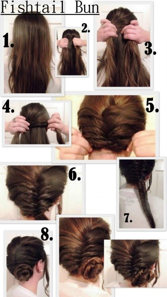 Fishtail Bun Updos Tutorials