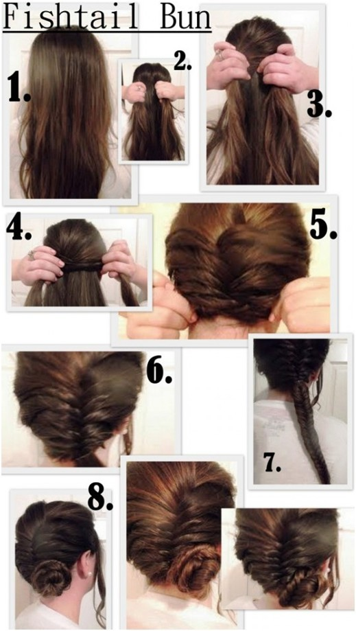 Fishtail Side Bun Updos Tutorial
