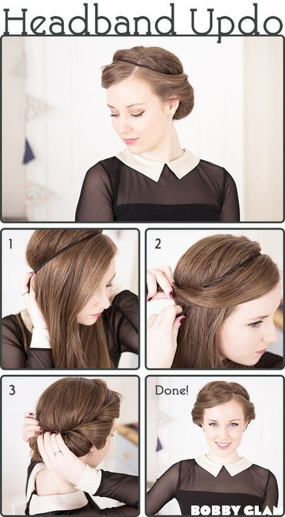 Headband Updo Tutorial