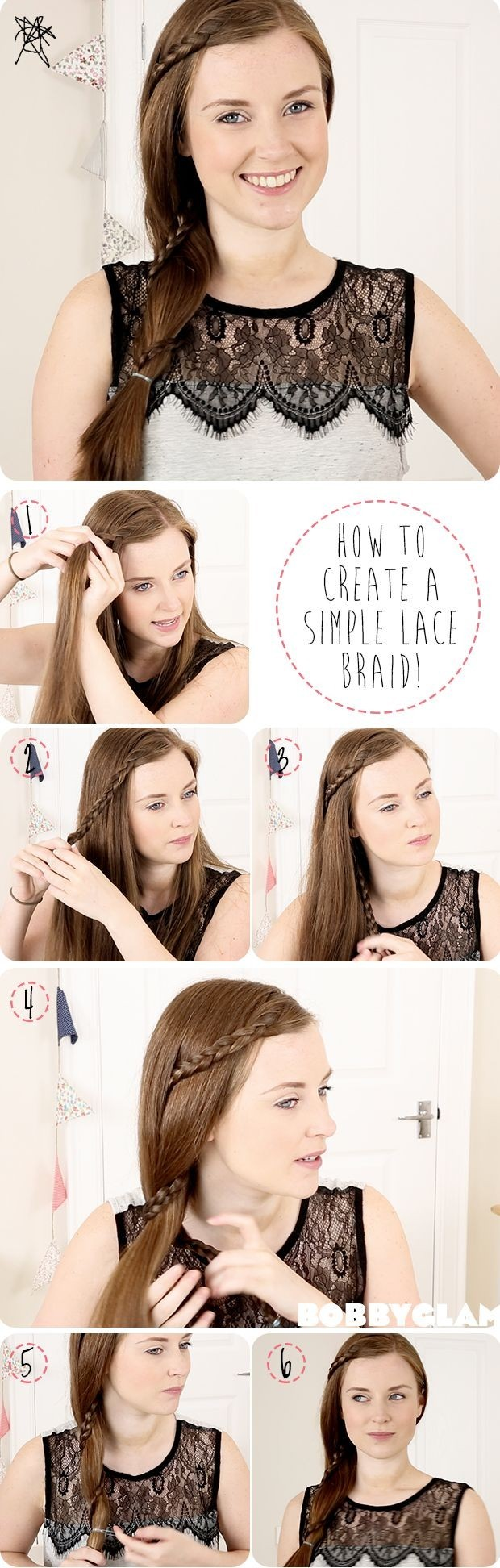 How to Create a Simple Lace Braid: Braid Hair Tutorial