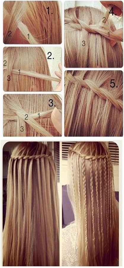 How to Do Waterfall Braid Step by Step