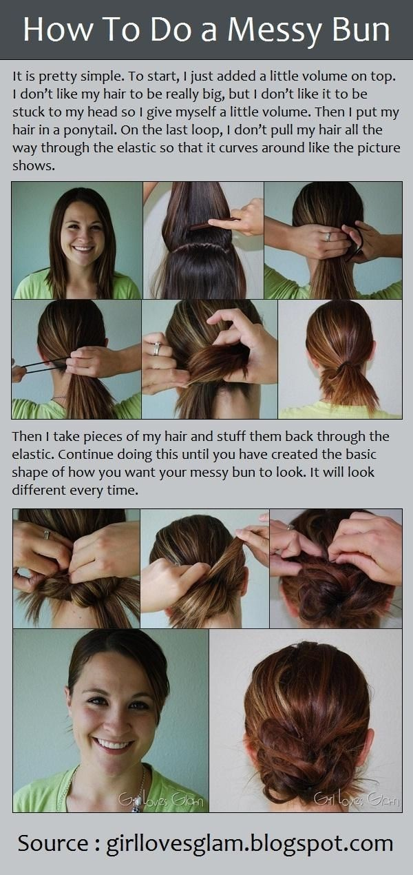 How to Do a Messy Bun Updo Hairstyle