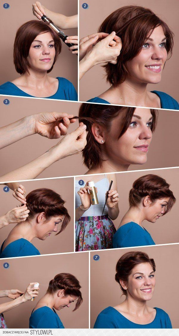 How to Style: DIY Short Hair Faux Updo Hairstyle