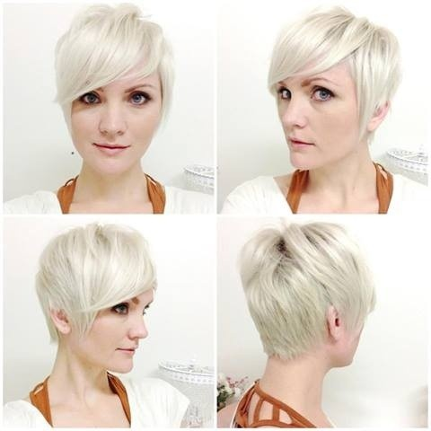 short haircuts front and back view 15 chic pixie haircuts which one suits you best 2690 | Light Blonde Short Haircuts for Side Bangs Side Front and Back View