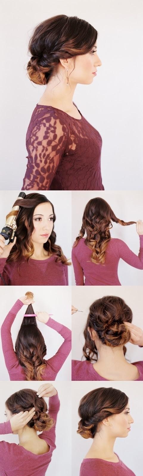 12 Trendy Low Bun Updo Hairstyles Tutorials: Easy Cute - PoPular Haircuts