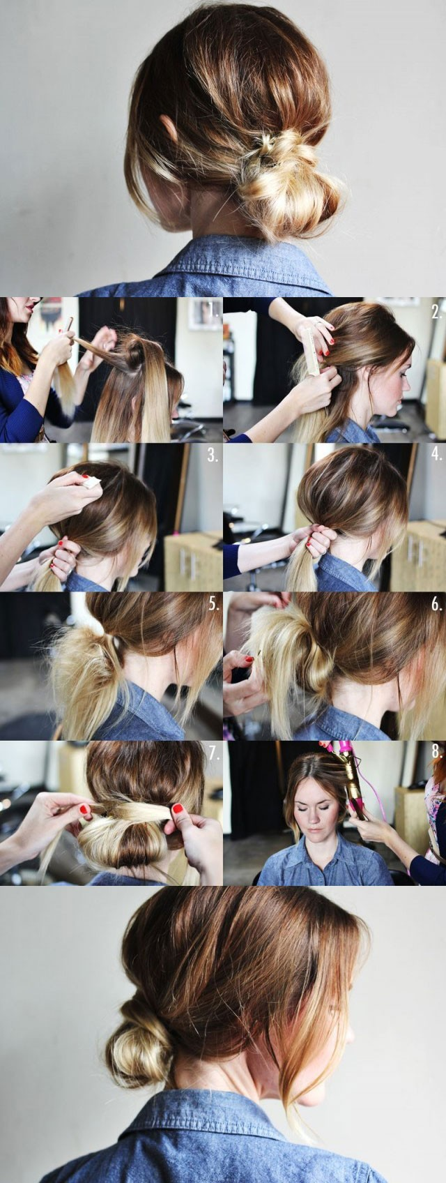 Low Bun Updo Hairstyle Tutorial: Easy Hairstyles for Women
