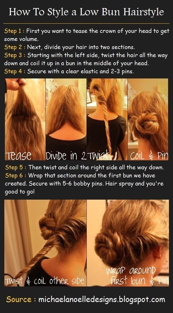 Low Bun Updo Hairstyle Tutorials