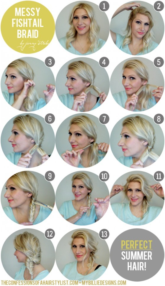 Messy Side Fishtail Braid: Perfect Summer Hairstyles