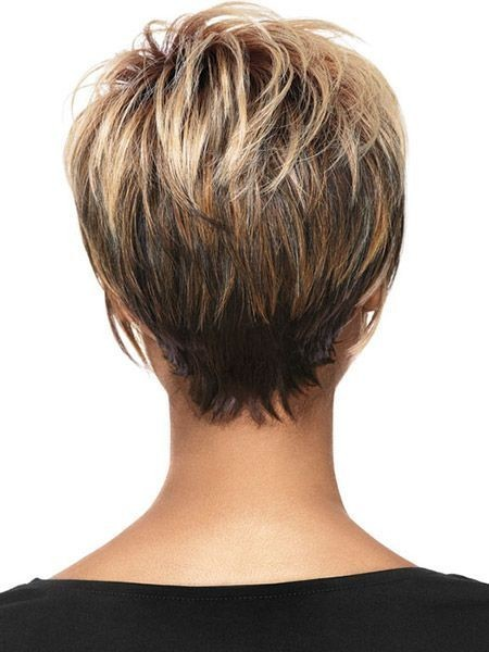 Ombre Hair on Short Hairstyles: Back View