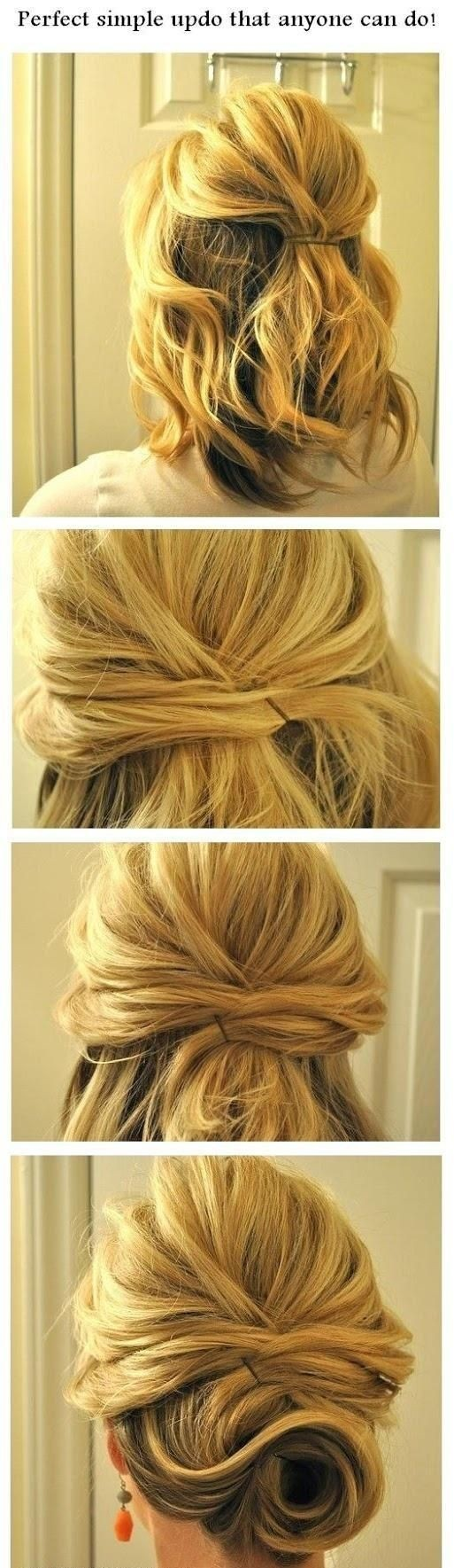 Perfect Simple Short Updo Hairstyle