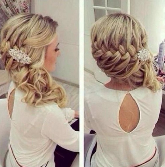Prom Hairstyles for Long Hair Side Braids