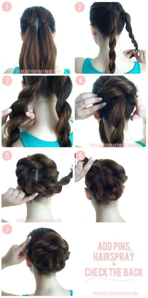 Swell Step By Step Hairstyles For Long Hair Long Hairstyles Ideas Short Hairstyles Gunalazisus