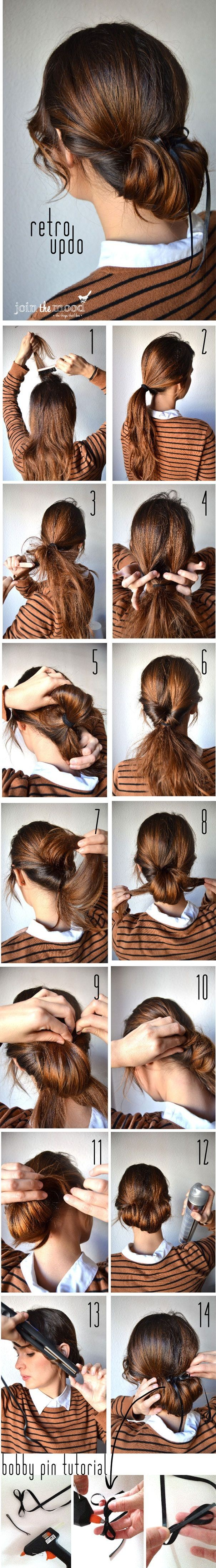 Retro Updos Tutorial: Step by Step Hairstyles for Long Hair