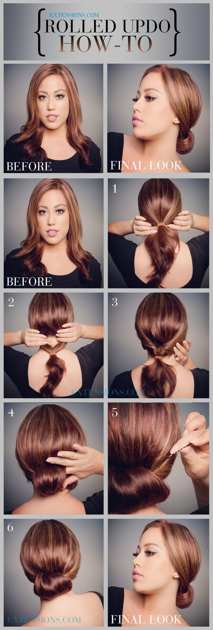 How to: Rolled Updo Hairstyle