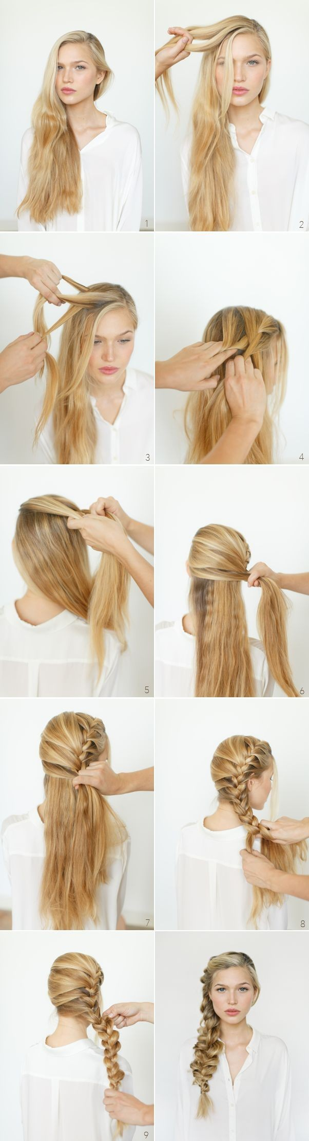 Great Romantic Hairstyle Ideas And Tutorials: Side Braids