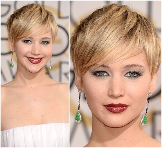 Short Layered Haircut with Side Bangs for Summer