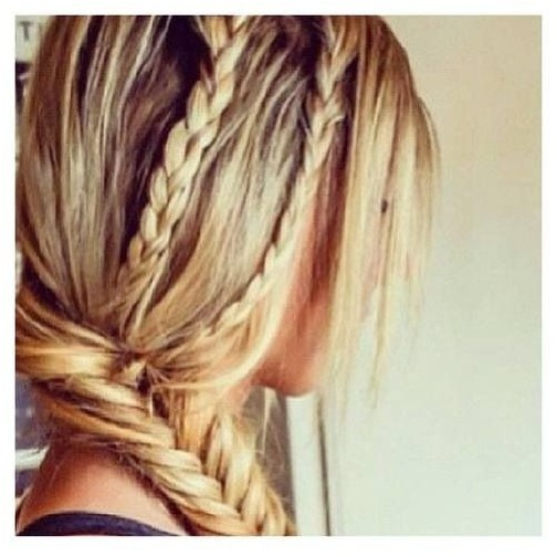 Side Fishtail Braided Hairstyle