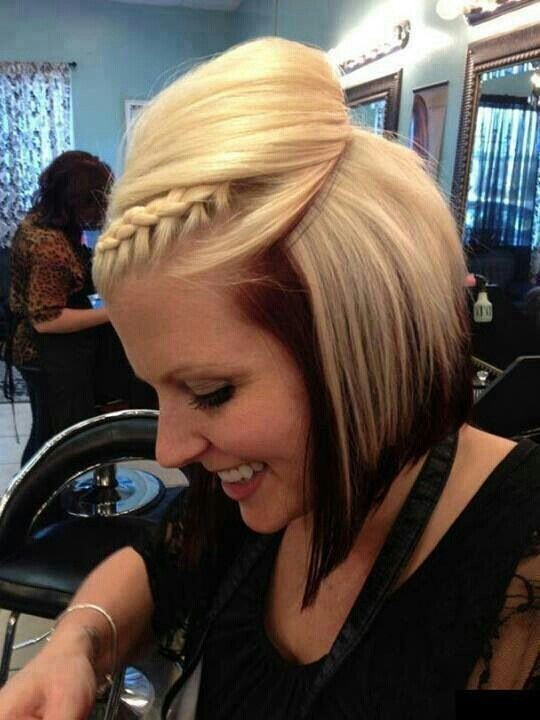 Dark hair on top blonde underneath