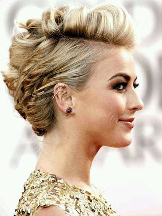 Sweet and Chic Short Hairstyle for Prom
