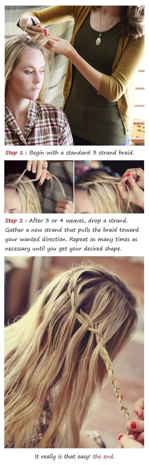 Trendy Braids 2014: Waterfall Braid Tutorial