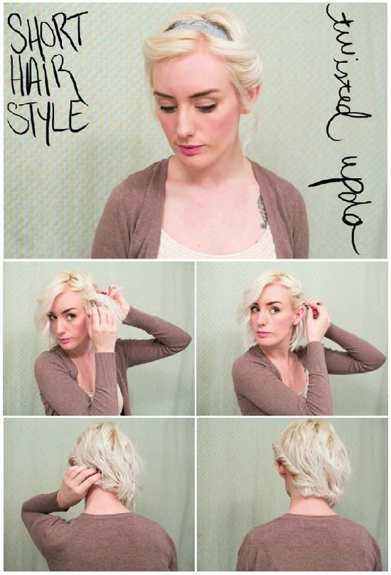 Twisted Updos Tutorials for Short Hair